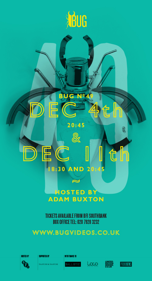 Buxton is back with BUG 49 on December 4th and 11th