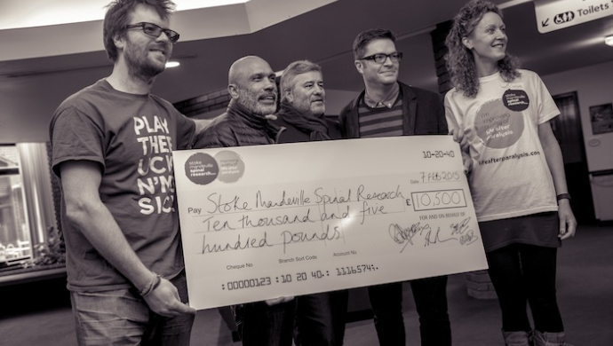 Barry Wasserman 'Wrap' party raises £10,500 for Stoke Mandeville Spinal Research