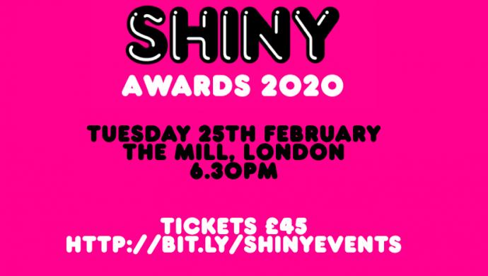 SHINY Awards celebrates new talent on 25th February