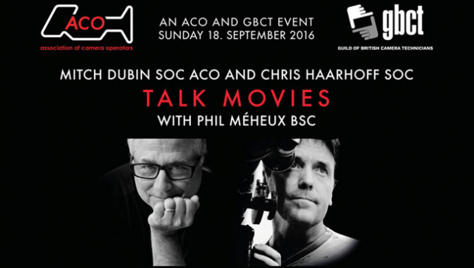 Top camera operators Mitch Dubin and Chris Haarhoff in London event on Sunday 18th September