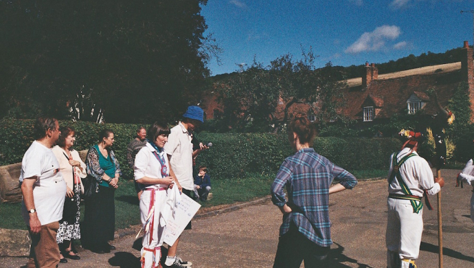 """Dougal Wilson on Morris dancing with Stealing Sheep: """"I was trying to say 'Isn't this cool?"""""""