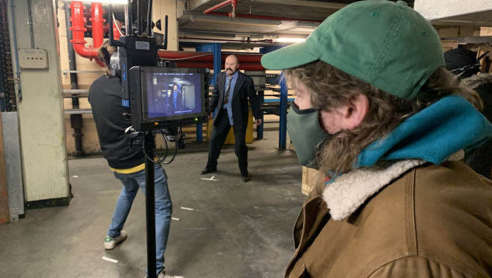 """Behind TV Priest's 'Press Gang' video with Joe Wheatley and Charlie Drinkwater - """"Our idea of journalists is still shaped by the 70s"""""""
