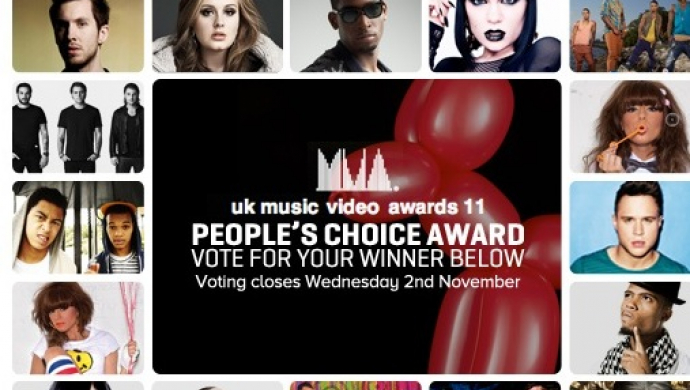 UK Music Video Awards 2011: the UK MVA People's Choice Award sponsored by VEVO – nominations!
