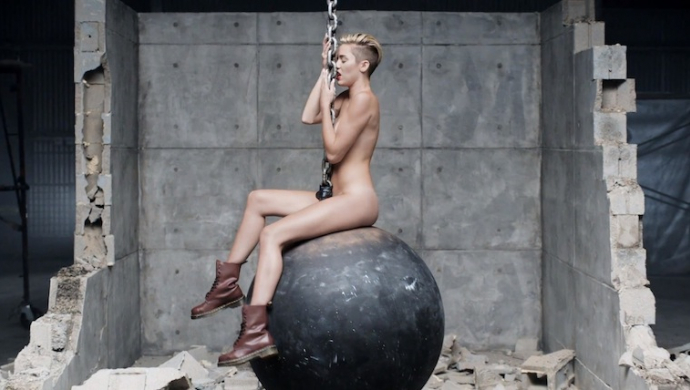 cyrus wrecking ball uncensored Miley