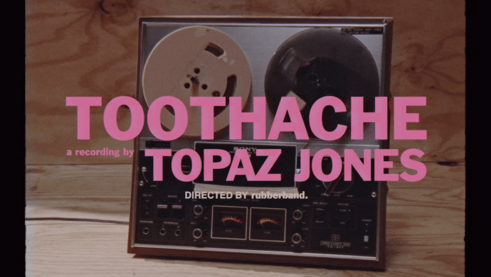 Topaz Jones 'Toothache' by rubberband.