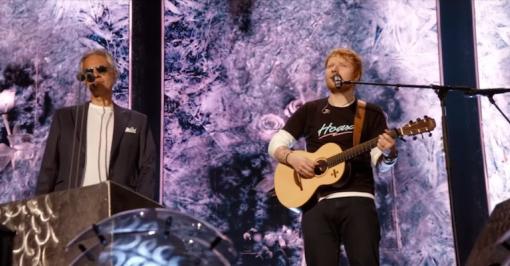 Ed Sheeran ft  Andrea Bocelli 'Perfect Symphony' (live at